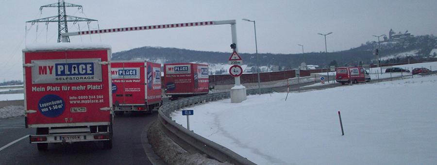 Umzug Wien im Winter